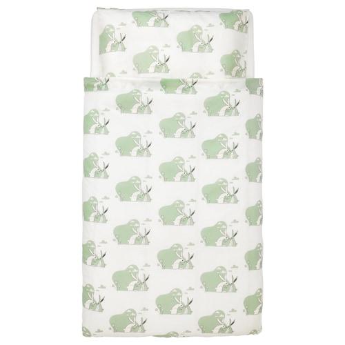 IKEA BUSSIG Crib duvet cover/pillowcase