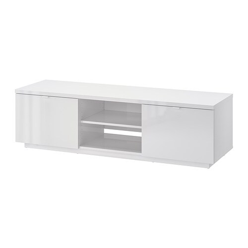 ByÅs Tv Unit High Gloss White 63x16 1 2x17 3