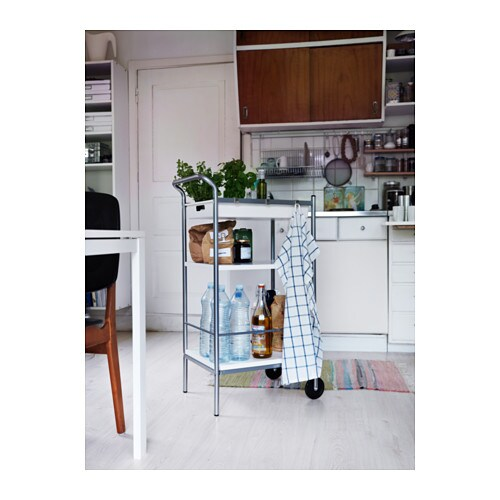 Armoire Ikea Aneboda Une Porte ~ BYGEL Utility cart, white, silver color  Utility Cart, Ikea and Bar