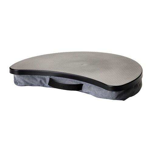 Byllan laptop support vissle gray black ikea for Table lit ordinateur ikea