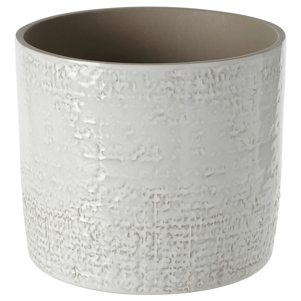 CHIAFRÖN Plant pot, indoor/outdoor white, 6 ""