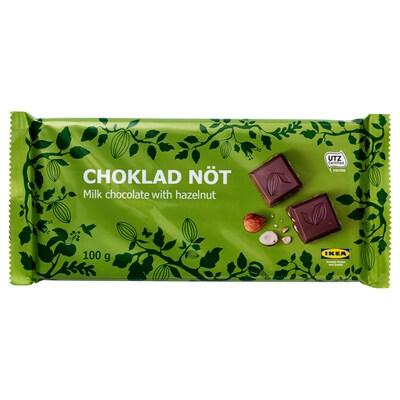 CHOKLAD NÖT milk chocolate bar with nuts UTZ certified 3.5 oz