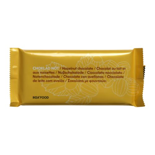 CHOKLAD NÖT Milk chocolate bar with nuts Net weight: 3.5 oz  Net weight: 100 g