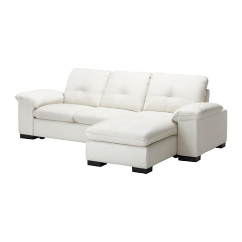 Dagstorp loveseat and chaise lounge laglig white ikea for Black and white chaise lounge cushions
