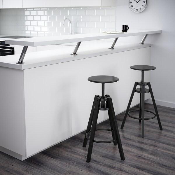 """DALFRED Bar stool, black, 24 3/4-29 1/8 """""""