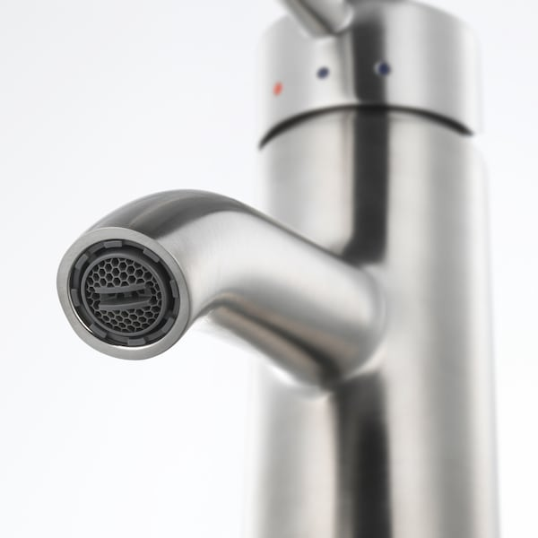 DALSKÄR Bath faucet with strainer, stainless steel color