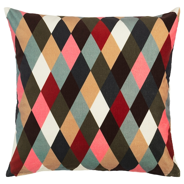 """DEKORERA Cushion cover, diamond pattern multicolor, 20x20 """""""