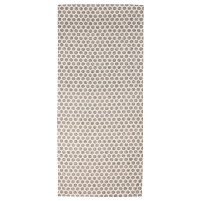 DEKORERA Tablecloth, dotted natural/gray, 57x94 ""