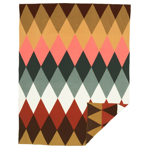 "DEKORERA Throw, diamond pattern multicolor, 47x63 """