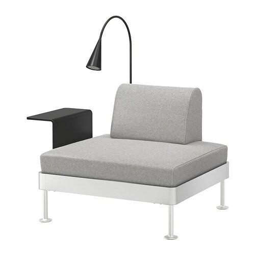DELAKTIG Armchair With Side Table And Lamp   Tallmyra White/black   IKEA