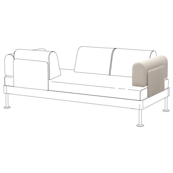 DELAKTIG Armrest with cushion, Gunnared beige