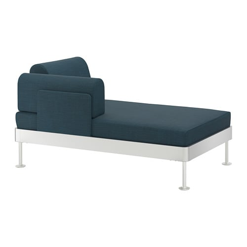 Delaktig chaise with armrest hillared dark blue ikea - Copridivano chaise longue ikea ...