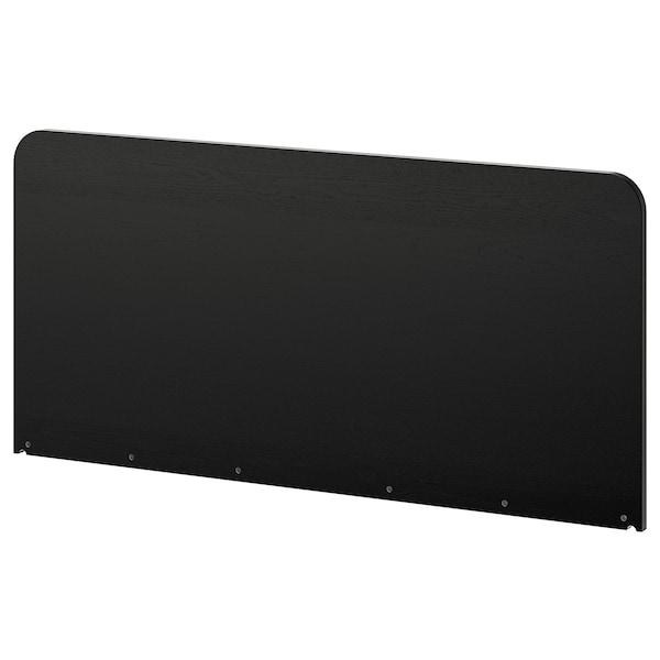 DELAKTIG Headboard, black, Queen