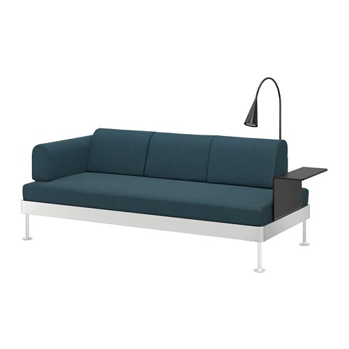 DELAKTIG Sofa With Side Table And Lamp