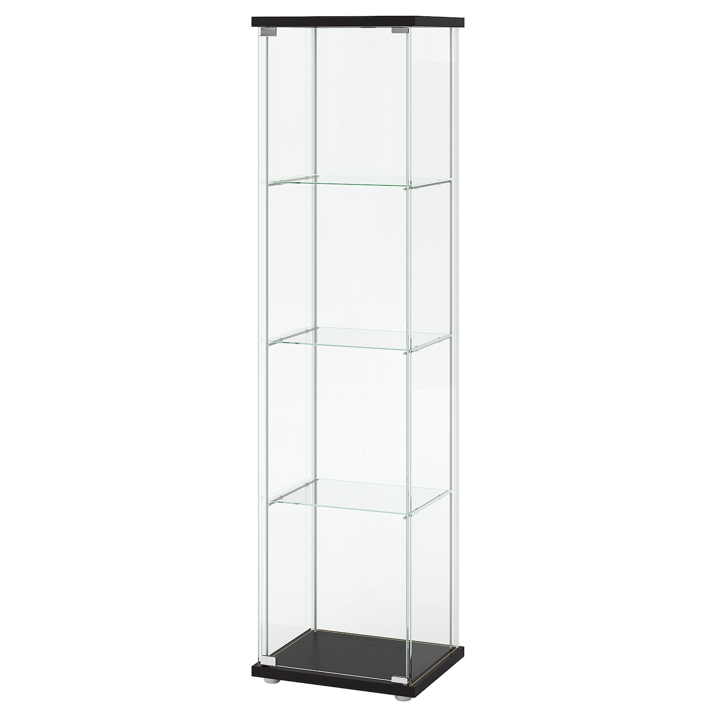 Picture of: Detolf Glass Door Cabinet Black Brown 16 3 4×64 1 8 Ikea