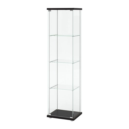 detolf glass door cabinet black brown ikea. Black Bedroom Furniture Sets. Home Design Ideas