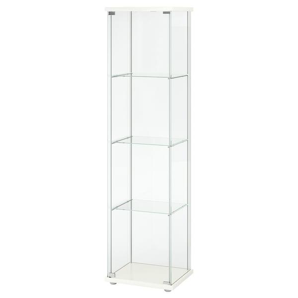"DETOLF Glass-door cabinet, white, 16 3/4x64 1/8 """