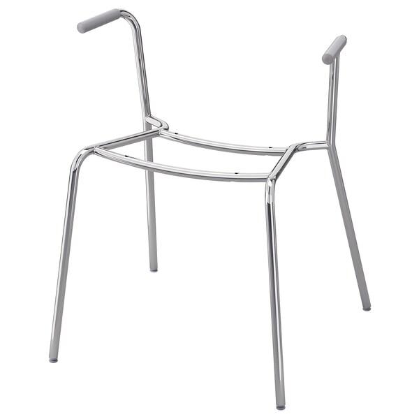 DIETMAR Underframe for armchair, chrome plated