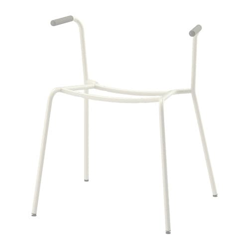 DIETMAR Underframe for armchair, white