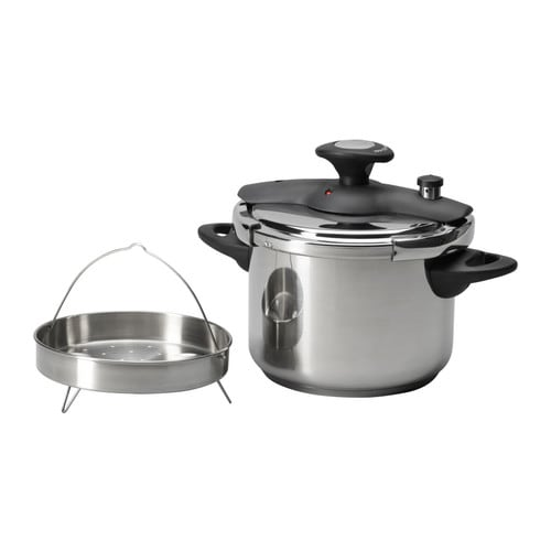 DILLKÖTT Pressure cooker IKEA Preparing food in a pressure cooker reduces the cooking time by up to 50%.