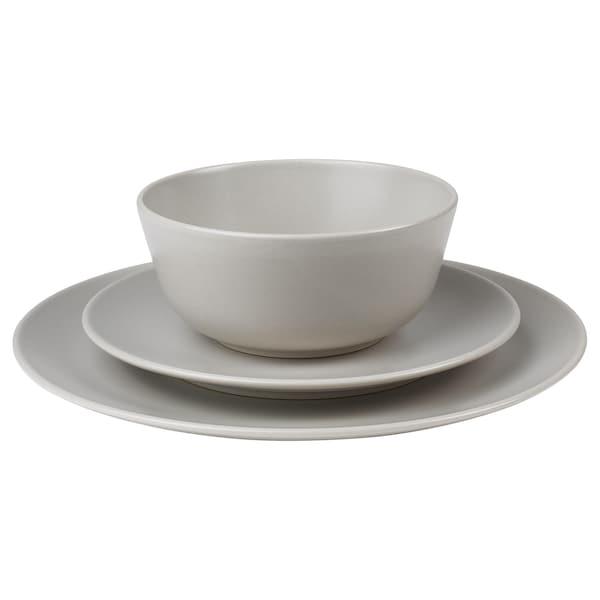 DINERA 18-piece dinnerware set, beige