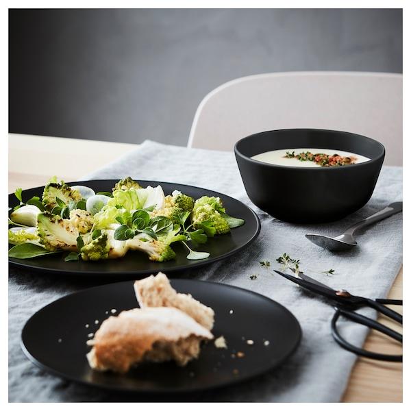 DINERA 18-piece dinnerware set, dark gray