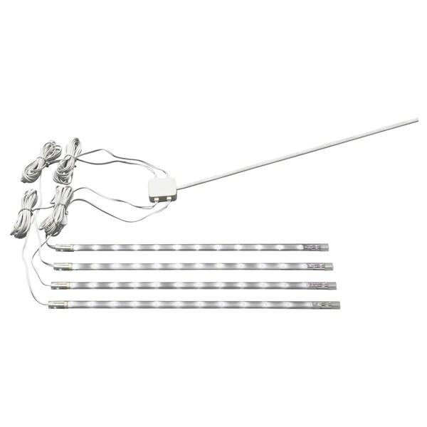 "DIODER LED 4-piece light strip set white 9 ¾ "" 11 ' 6 "" 5.0 W"