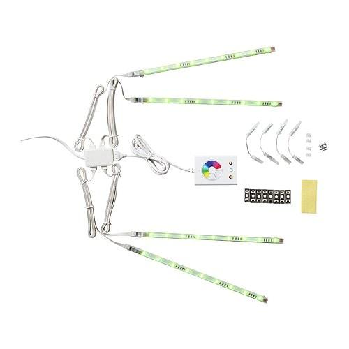 DIODER LED 4-piece light strip set, multicolor multicolor -