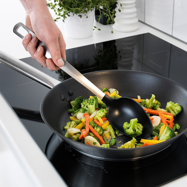 DIREKT 3-piece kitchen utensil set, black/stainless steel