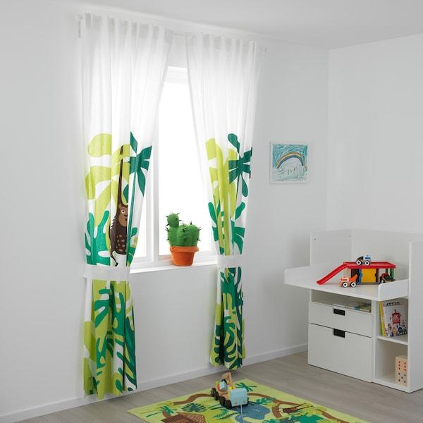 DJUNGELSKOG Curtains With Tie-backs, 1 Pair