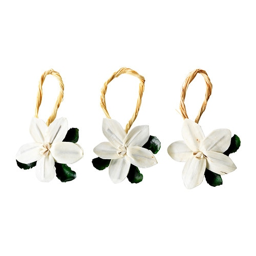 DOFTA Hanging decoration IKEA A decorative flower that you can hang wherever you want to spread a pleasant scent.