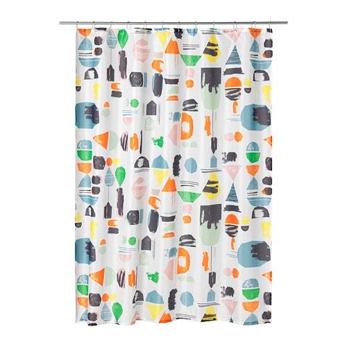 DOFTKLINT Shower curtain, multicolor multicolor 71x71