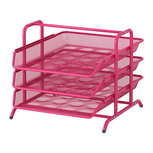 Dokument letter tray pink ikea - Paper organizer for desk ...