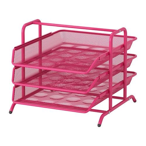 Dokument letter tray pink ikea - Ikea desk organizer ...