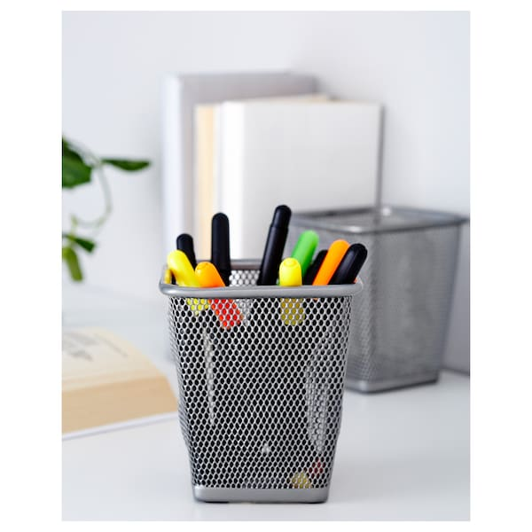 "DOKUMENT pencil cup silver color 4 "" 4 "" 4 ¼ "" 2 pack"