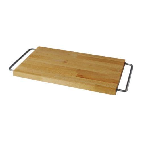 DOMSJÖ Chopping board, beech, stainless steel