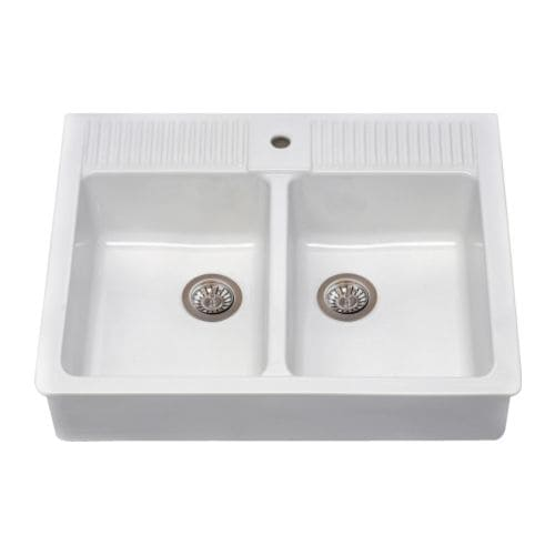 DOMSJÖ Double bowl IKEA 25-year Limited Warranty. Read about the terms in the Limited Warranty brochure.