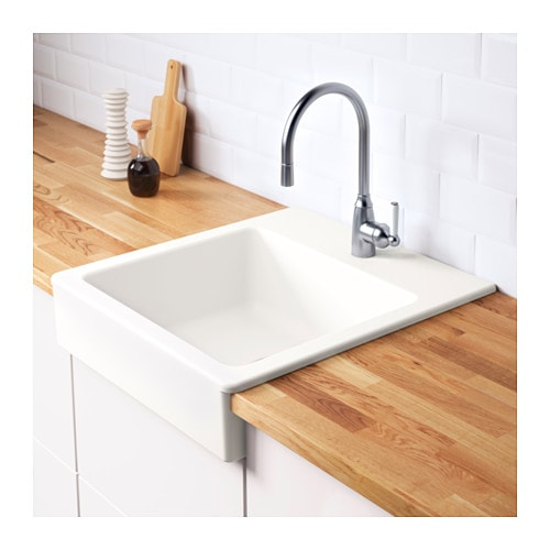 DOMSJÖ Single Bowl Apron Front Sink   IKEA