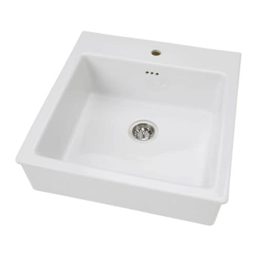 DOMSJÖ Sink bowl with strainer/water-trap IKEA 25-year Limited Warranty.   Read about the terms in the Limited Warranty brochure.