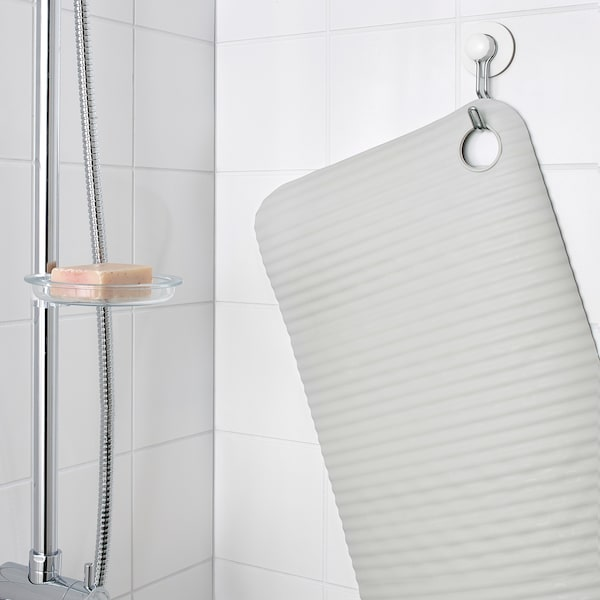 "DOPPA Bathtub mat, light gray, 13x33 """