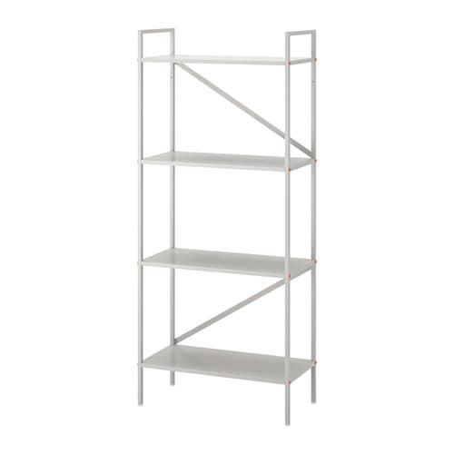 DRAGET Shelf unit, light gray light gray 23 5/8x55 1/8