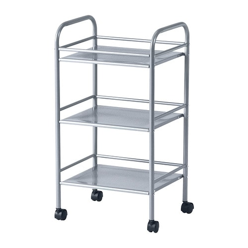 DRAGGAN Cart IKEA Easy to move around with the included casters.