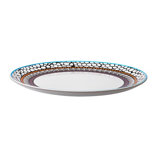 DRIFTIG Plate IKEA Dinnerware with a modern and playful pattern inspired by the fashion world and nature.