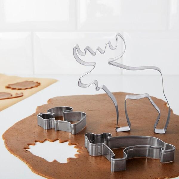 DRÖMMAR Pastry cutter, set of 6, silver color