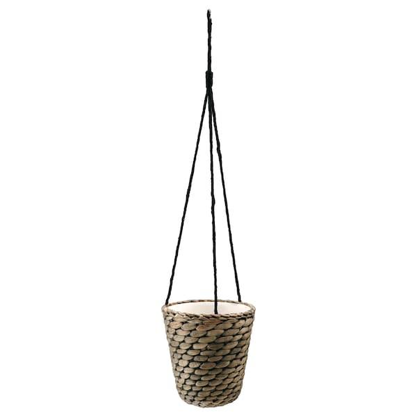"""DRUVFLÄDER Hanging planter, water hyacinth/gray, 5 ½ """""""