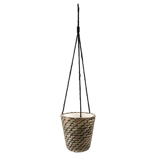 """DRUVFLÄDER hanging planter water hyacinth/gray 7 """" 6 ¾ """" 5 ½ """" 6 """""""