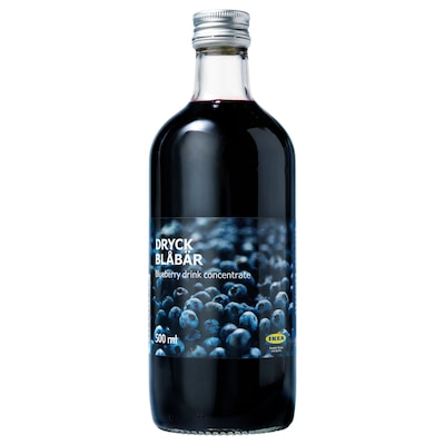 DRYCK BLÅBÄR Blueberry syrup, 16.9 oz