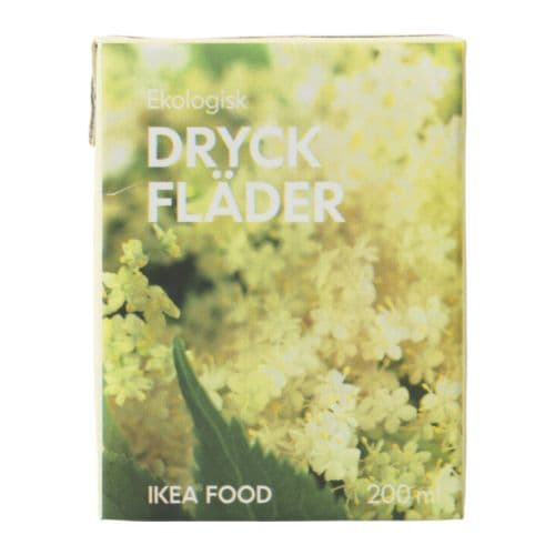 DRYCK FLÄDER Elderflower drink IKEA The white elder flowers make a refreshing drink.   Serve chilled as a thirst quencher, or with your optional meal.