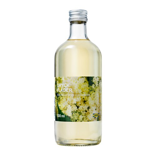DRYCK FLÄDER Elderflower syrup IKEA The elder bush bears white blossoms, suitable for making juice and jam.