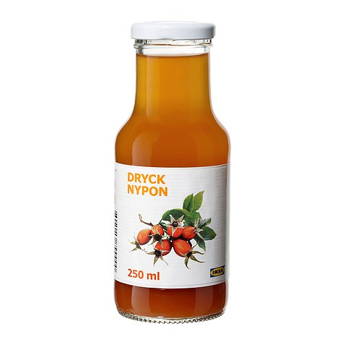 DRYCK NYPON Rosehip drink IKEA Ready-made rosehip drink contains both vitamin A and C.